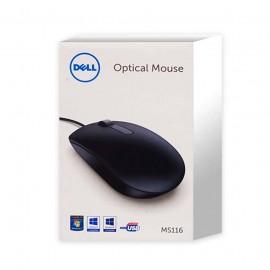 DELL Mouse Optical MS116 (เมาส์แบบสาย) รับประกันศูนย์ 1 ปี