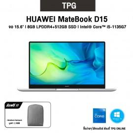 "HUAWEI MATEBOOK D15 l จอ 15.6""IPS l CPU: i5-1135G7 l 8GB DDR4+512GB SSD l WIN10HOME รับประกันศูนย์ไทย 2 ปี"