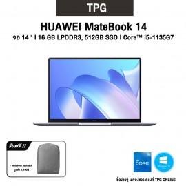 "HUAWEI MATEBOOK14 l จอ 14"" 2K l CPU: i5-1135G7 l 16GB DDR4+512GB SSD l WIN10HOME รับประกันศูนย์ไทย 2 ปี"