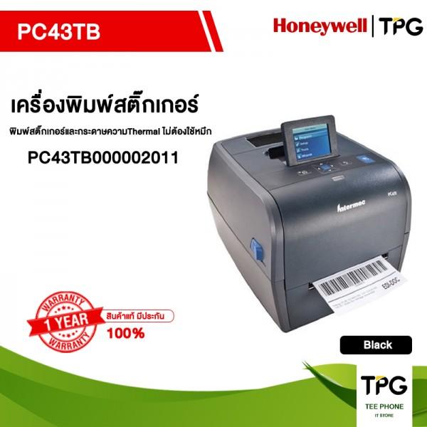 Honeywell PC43TB เครื่องพิมพ์สติ๊กเกอร์และกระดาษความThermal ไม่ต้องใช้หมึก พร้อมจอแสดงผล (PC43TB000002011)