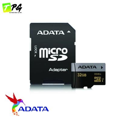 ADATA Premier Pro Micro-SDHC Class10 (32GB) เมมโมรี่การ์ดความเร็วสูง U3-R95W50 พร้อม SD Adapter