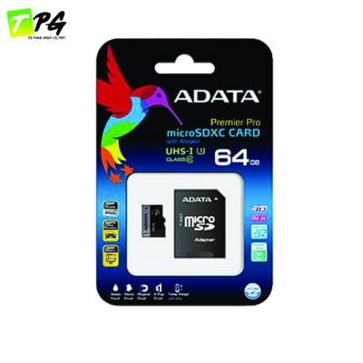 ADATA Premier Pro Micro-SDHC Class10 (64GB) เมมโมรี่การ์ดความเร็วสูง U3-R95W50 พร้อม SD Adapter