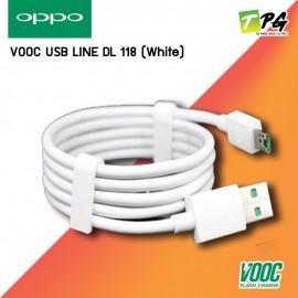 OPPO VOOC USB LINE สายชาร์จโทรศัพท์แท้ รุ่น DL 118 (White)